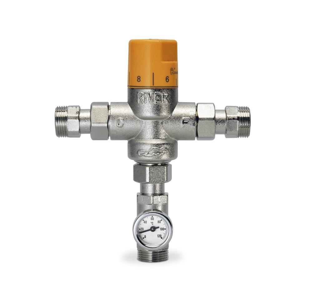 genebre mezclador termost tico vertical con term metro